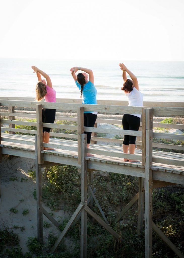Activities - Yoga on the board walk